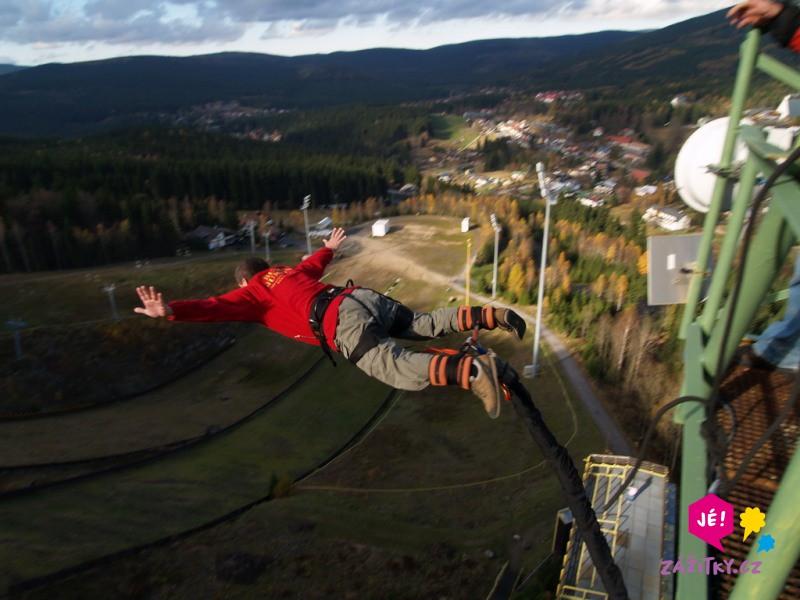 Bungee jumping z věže - certifikát