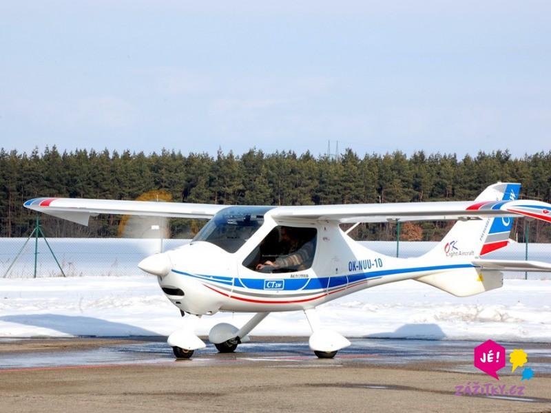 Pilotem malého letounu na zkoušku - poukaz na zážitek