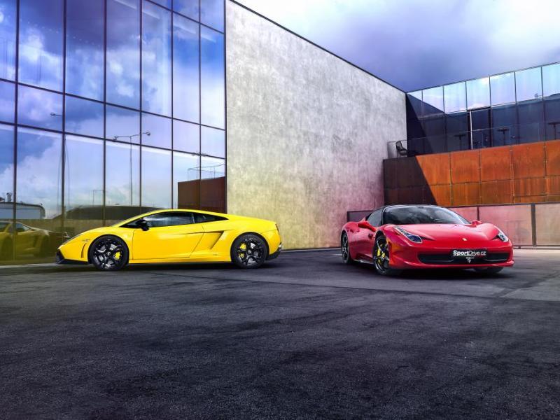 Lambo vs. Ferrari - dárkový poukaz