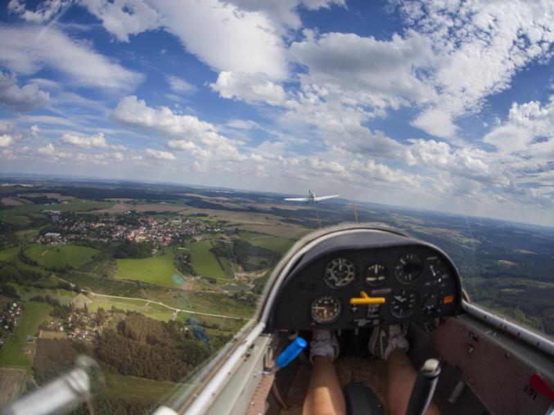 Vyhlídkový let větroněm pro milovníky letadel - dárkový poukaz