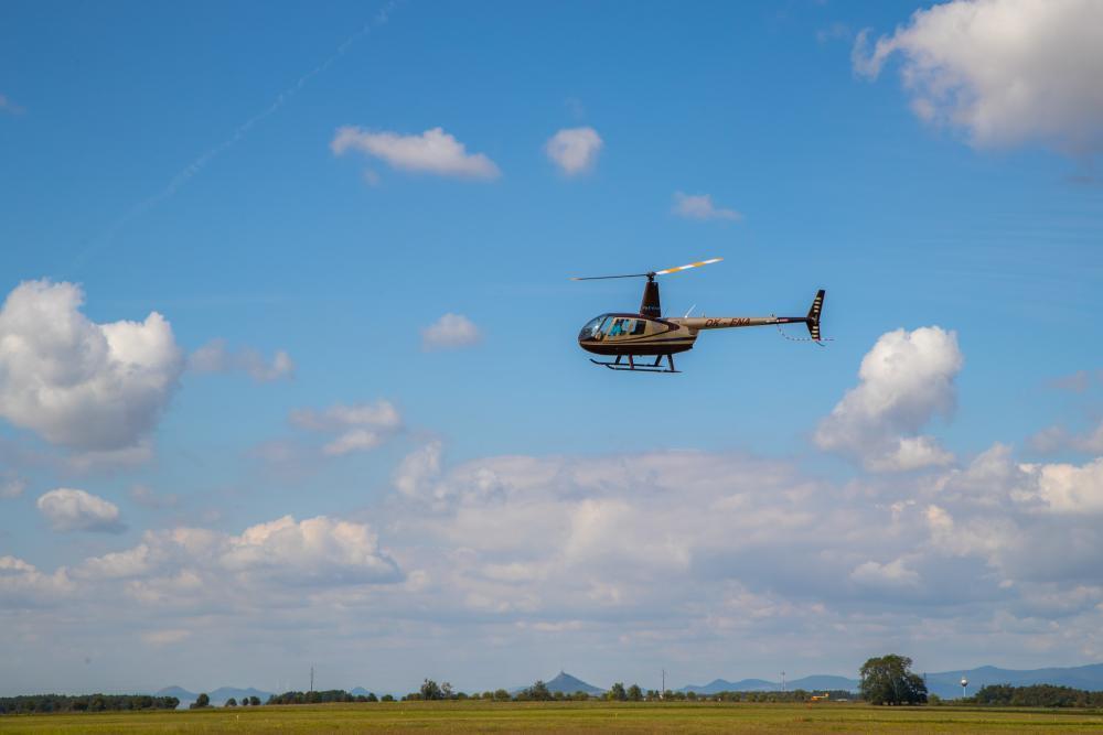 Lety vrtulníkem - certifikát