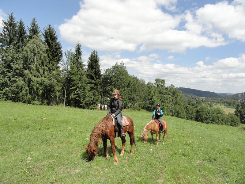 Vyjížďka na koni ve dvou - poukaz na zážitek