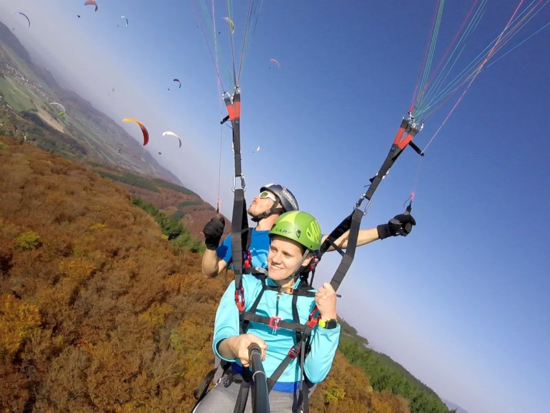 Tandemový paragliding - vyhlídkový let - dárek