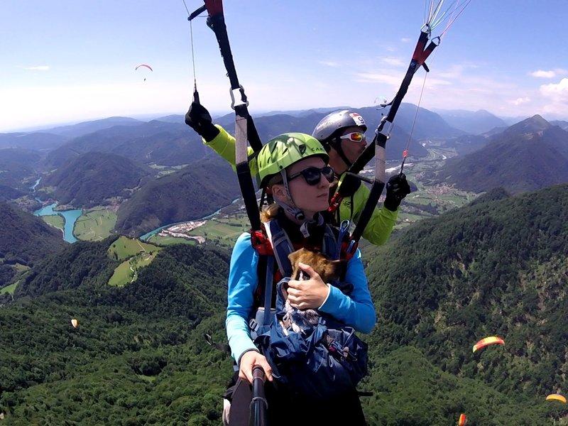 Tandemový paragliding - vyhlídkový let - certifikát