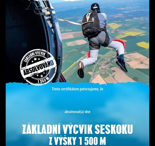 Základní parašutistický výcvik - certifikát